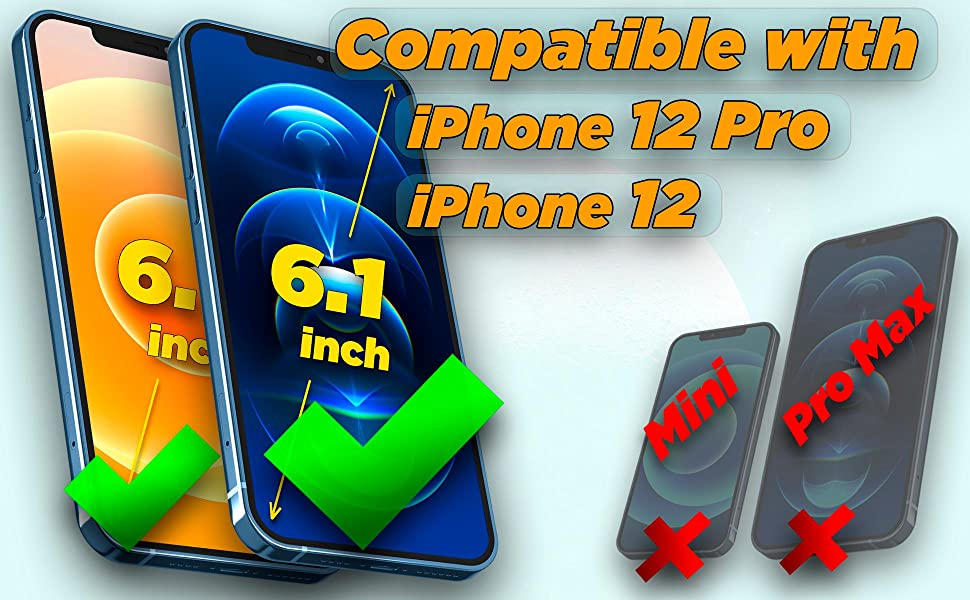 Compatible with iPhone 12 / iPhone 12 Pro 6.1 inch