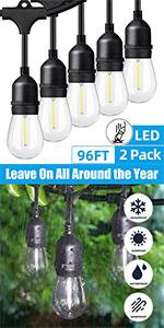 Daylight White Outdoor String Lights