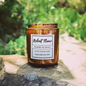 Seaside Fir Grove scented soy candle by Ardent Flame Candles