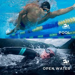 Voor zwembaden, open water en zwemspa's.