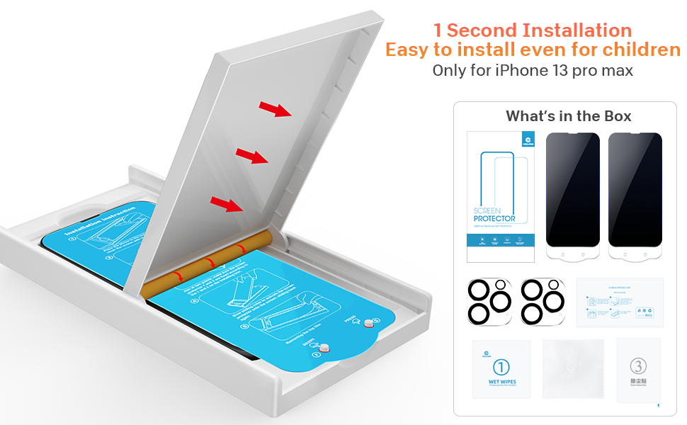 iPhone 13 Pro Privacy Screen Protector + Camera Lens Protector