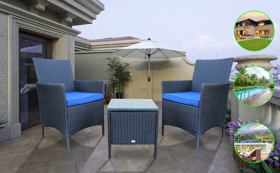 Upgrade your outdoor space with the PAOLFOX Patio Wicker Set