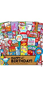 care package gift box snacks candy cookies fun birthday college students variety girl boy kids