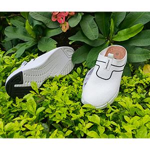 white ladies slip on mule sneaker