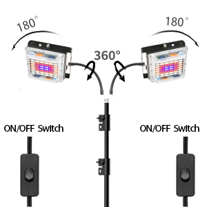 You can adjust the direction and angle of the light bulb by adjusting the gooseneck.