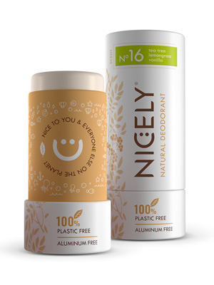 Nicely Natural deodorant open