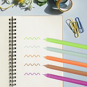fine point color gel ink pens