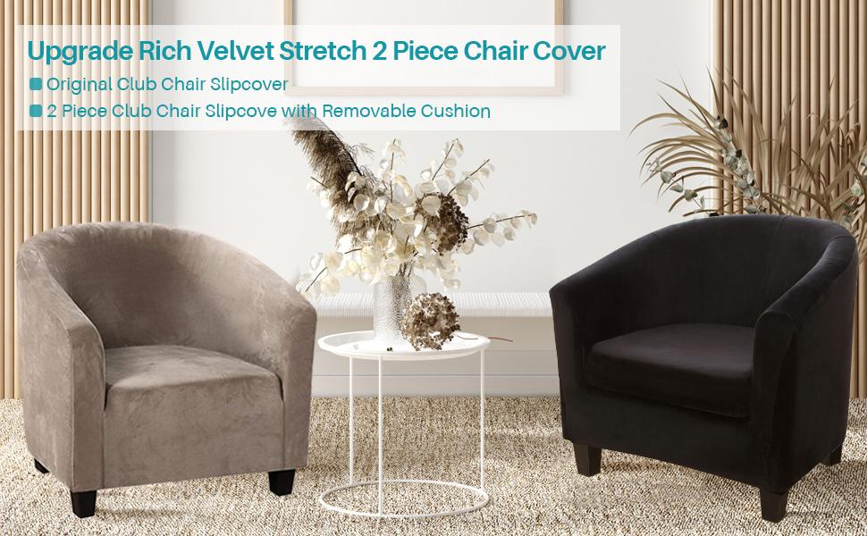 2 piece slipcover for a club chair
