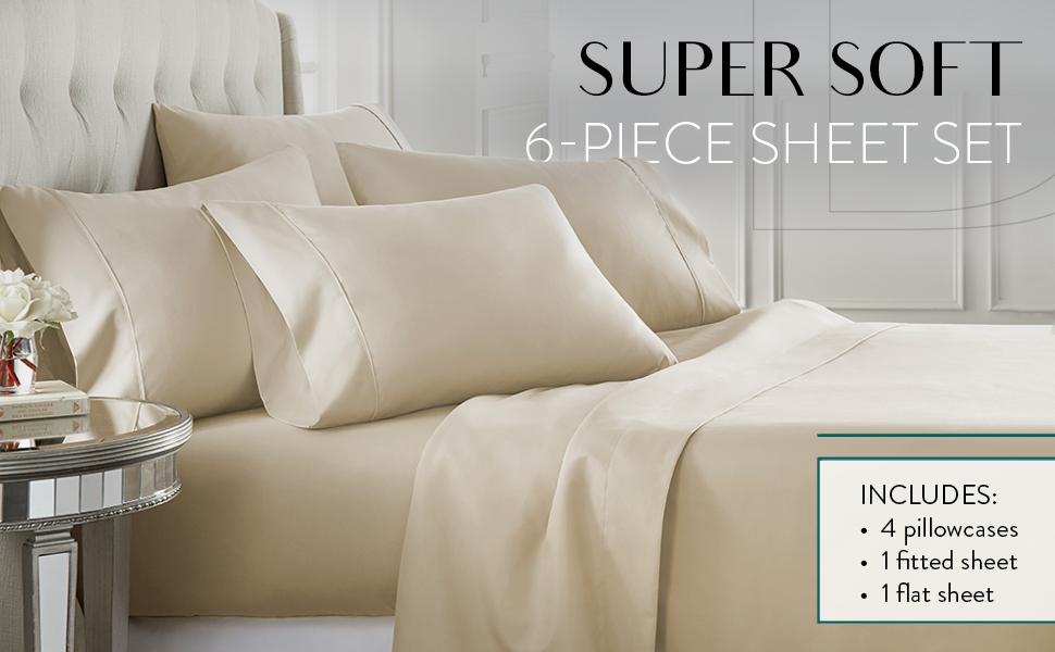 super soft 6-piece sheet set