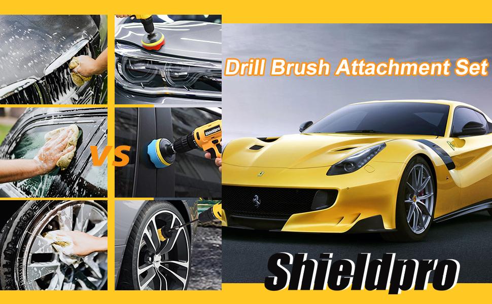 Shieldpro Drill Brush Attachment Set