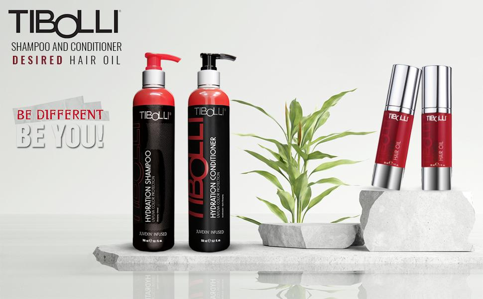 shampoo and conditioner set with desired oil