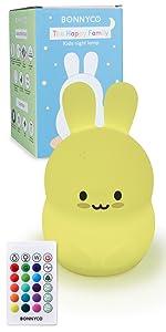 Kaninformad lampa att använda på natten för pojkar och flickor 1 2 3 4 5 6 år