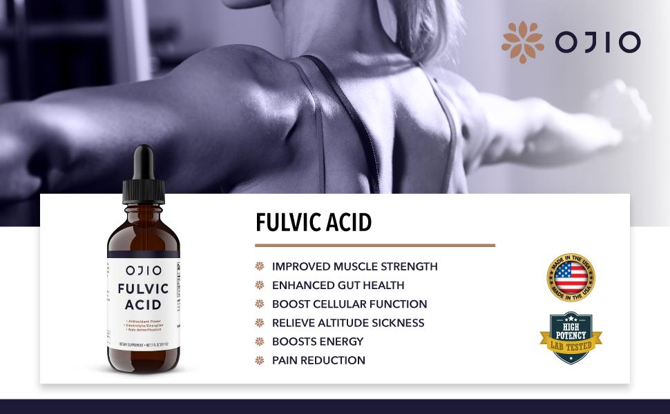 OJIO Fulvic Acid Trace Mineral Complex 2 fl oz