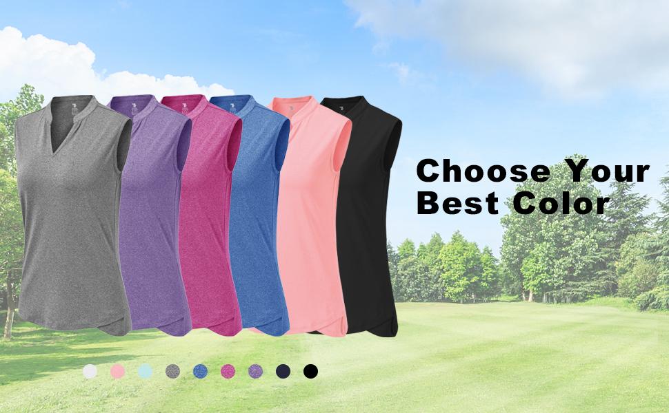 BGOWATU Women's Golf Polo T-Shirts