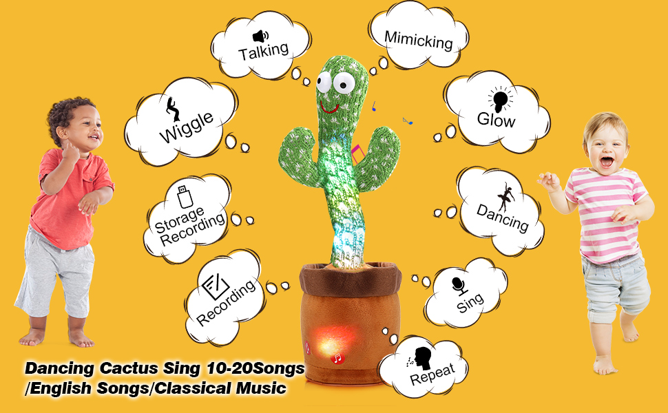sing dancing cactus toy in the pot