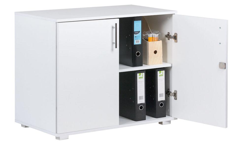 White storage cupboard 2 door