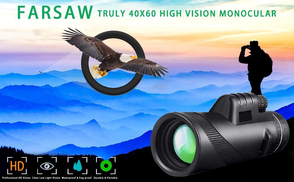 Farsaw Truly 40X60 High Vision Monocular