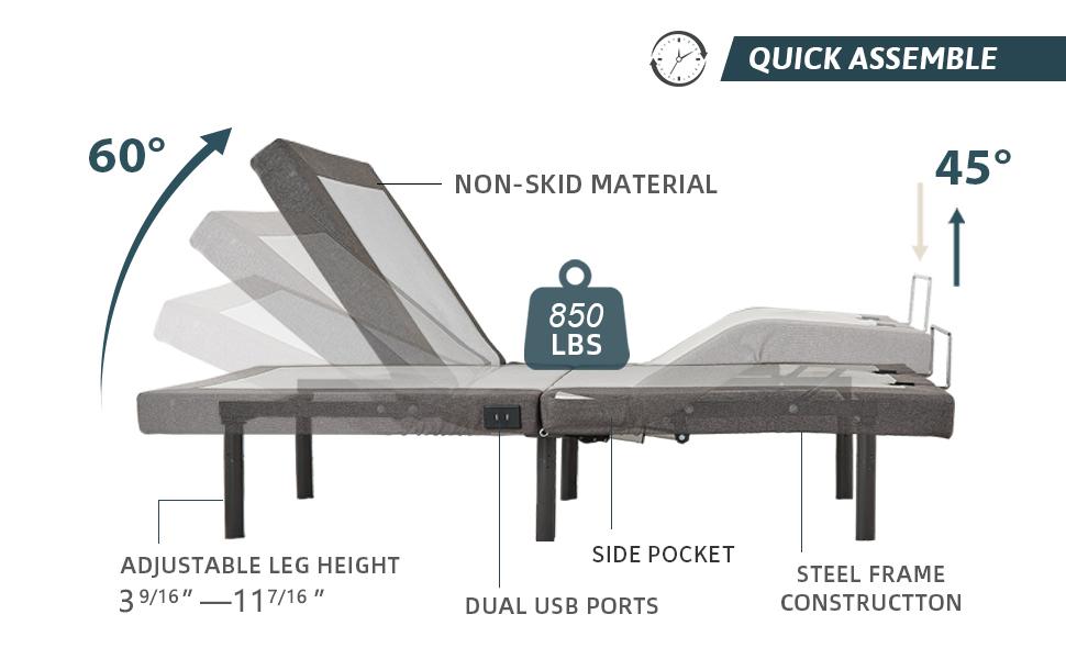 electric adjustable massage bed