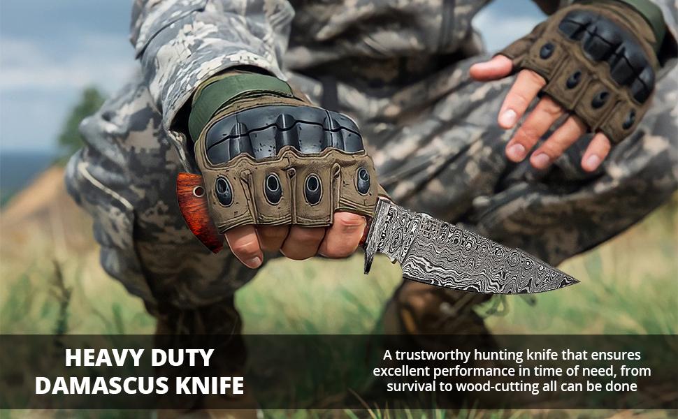 damascus knife damascus hunting knife hunting knife with sheath