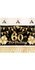 60th birthday banner 60th birthday decorations for men