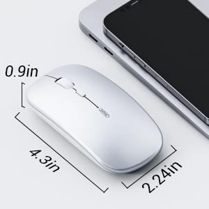 ratón inalámbrico compacto delgado para mac ratón recargable silencioso pequeño ratón ligero