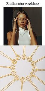 Leo star necklace