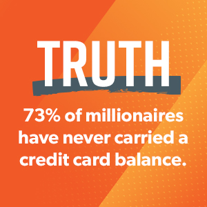 73% of millionaires have never carried a credit card