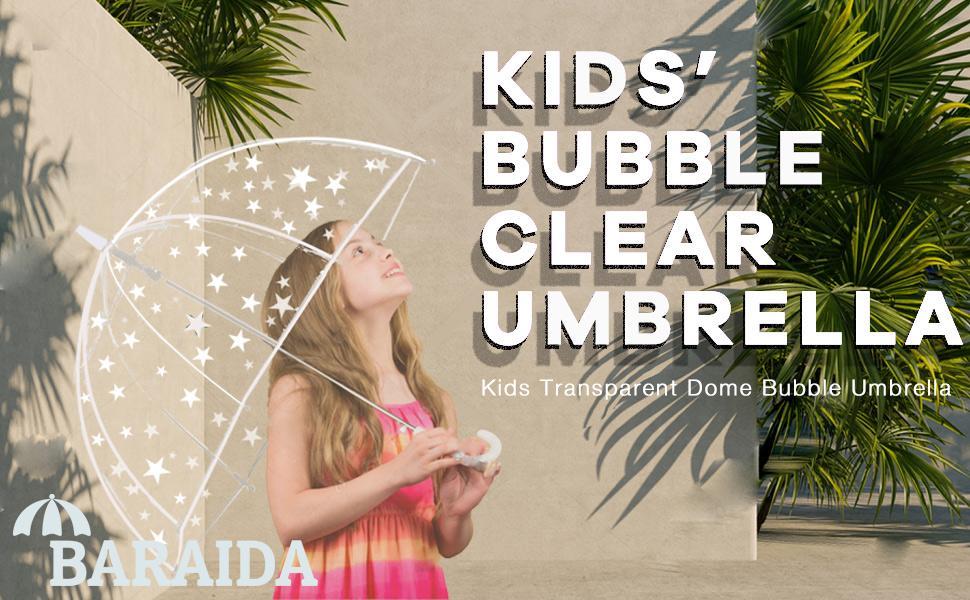 Baraida Kid's Clear Bubble Umbrella