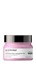 LOreal Professionnel Serie Expert Liss Unlimited Mask for smooth frizz free hair Masque