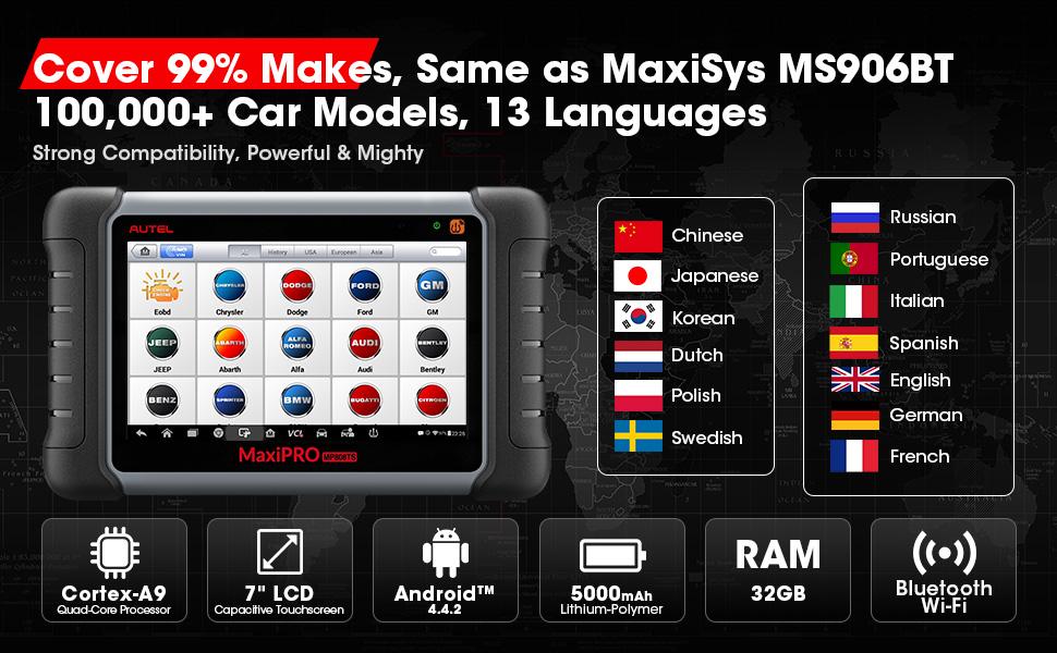 Autel scan tool MaxiPro MP808TS-7