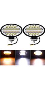 oval round light bar for truck off road roof light pods