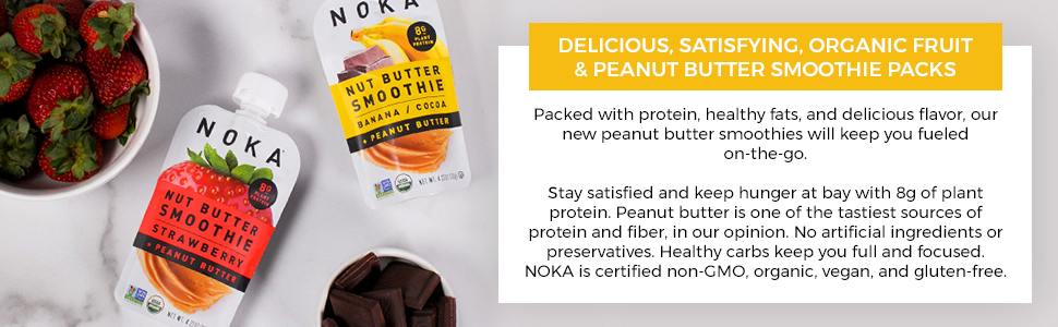 Delicious, Satisfying, Organic Fruit amp; Peanut Butter Smoothie Packs