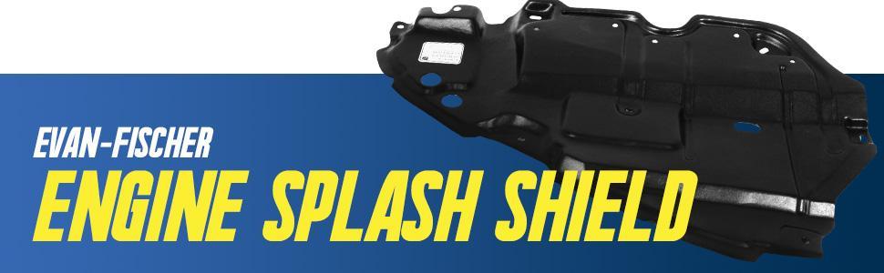 aftermarket replacement engine splash shield
