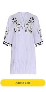 Women Lounge Dresses V Neck Short Sleeve Floral Print Patchwork House Dresses