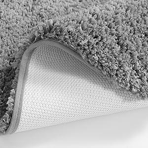 grey bath rug