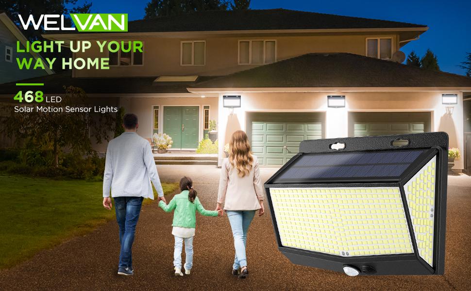 solar lights motion sensor