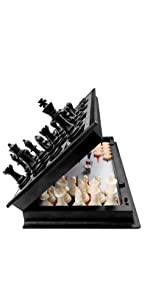 3 in 1 Magnetic Chess Checkers Backgammon Set