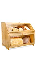Double Layer Bread Box