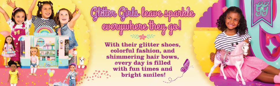 glitter girls by battat 14-inch dolls clothes outfits accessories shoe american girl rainbow high