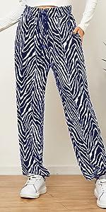 Pantalones de chándal con estampado de cebra