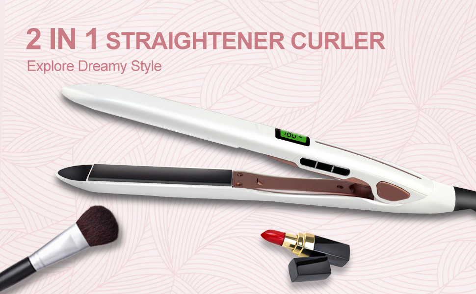 BEST 2 IN 1 HAIR STRAIGHTENER AND CURLER A REVOLUTIONARY NEW STYLING TOOL
