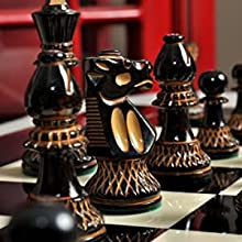 The Club Series Chess Set - Burnt Boxwood