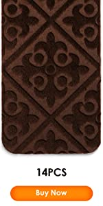 14 PCS brown stair treads