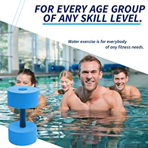 dumbbell water weight fitness pool sunlite sports low impact workout summer pool