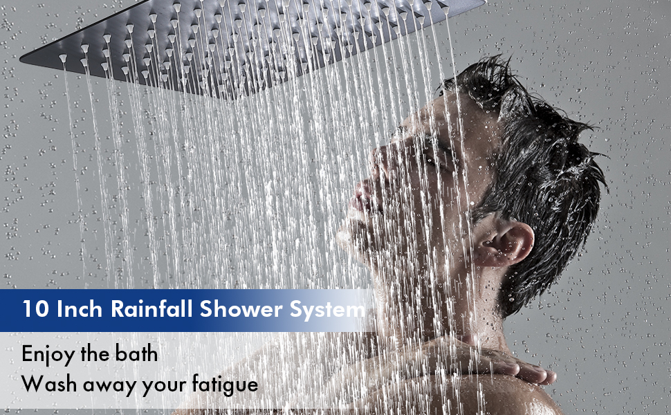 10 inches rainfall shower system