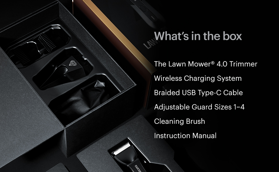 manscaped lawn mower 4.0 trimmer usb charger