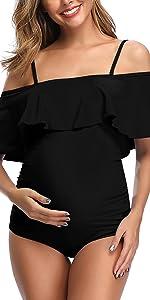 off shoulder maternity swimwear