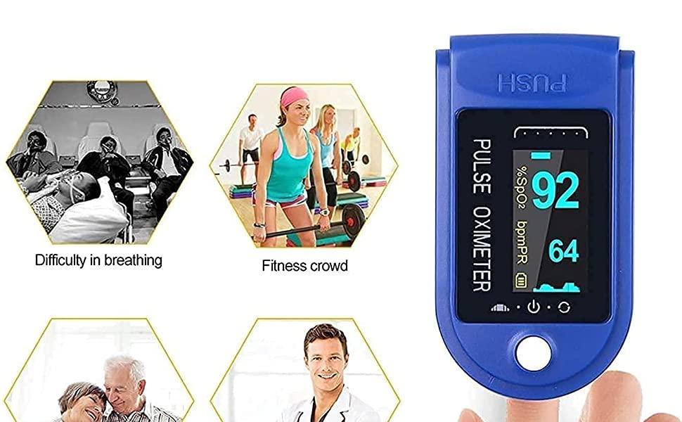 Oximeter Fingertip, Blood Oxygen Saturation Monitor Fingertip, Blood Oxygen Meter Finger Oximeter
