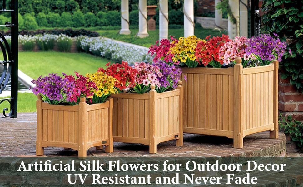 artificial outdoor flowers artificial flowers for outdoors outdoor artificial flowers