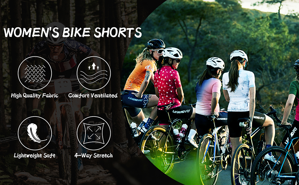 Women's Padded Bike Shorts